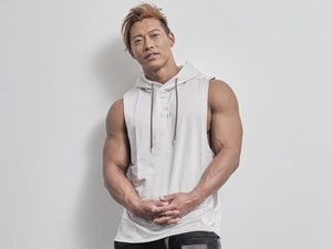 sleeveless hoodie(ICE GRAY)