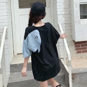 【トップス】韓国系半袖ラウンドネックプルオーバープリントTシャツ48948745