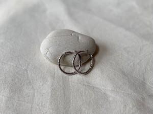 〈vintage silver925〉shiny hoop pierce