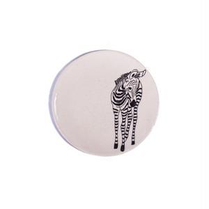 Zebra front シマウマ 正円プレート スモール