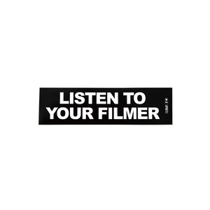 FILMBOT LISTEN TO YOUR FILMER STICKER