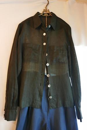CHANEL Linen Shirt Black