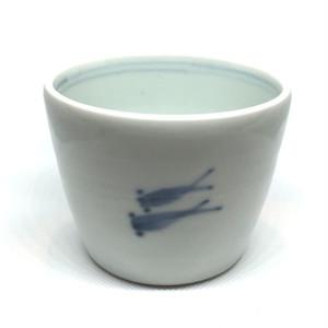 【砥部焼/山中窯】蕎麦猪口(めだか)