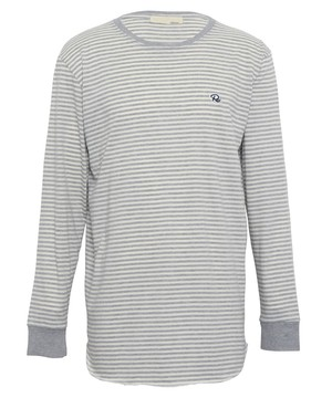 ONE POINT ICON BORDER LONG SLEEVE[REC412]