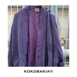 【US古着】KOKOBAKIA リメイク シルクジャケット パープル