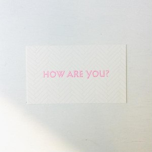 SAB LETTERPRESS HOW ARE YOU?