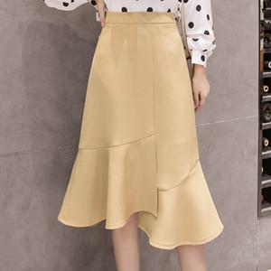 【dress】スタイリッシュイレギュラー女っぽさフィッシュテールスカート 22994763