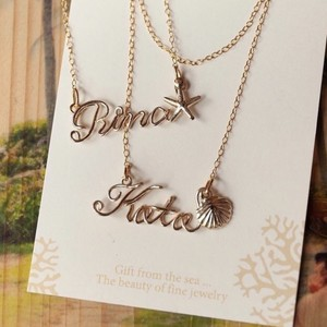 14kgf name necklace