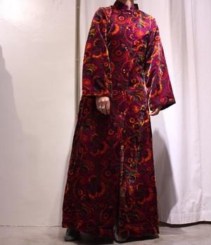 70's Velvet Maxi Dress
