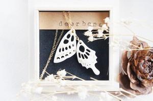 揚羽蝶のネックレス * deer bone *