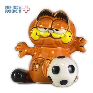 ガーフィールド サッカー 陶器製 ミニフィギュア