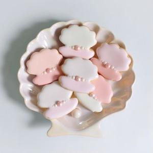 【5個入り】パールシェルのアイシングクッキー