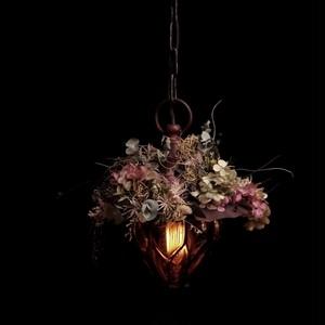 hydrangea white chandelier vintage