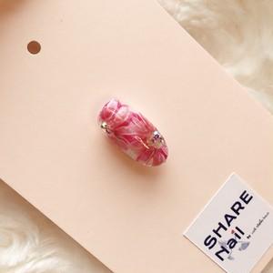 本物を見て学べる!ピンクのひまわりアート
