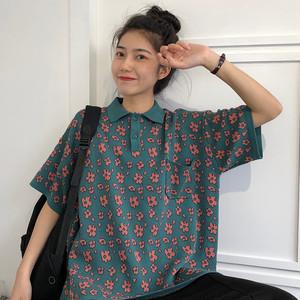 【トップス】オシャレ感たっぷりルーズ合わせやすいPOLOネックTシャツ19998297