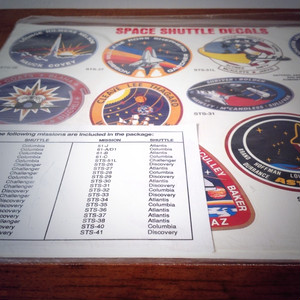"NASA ""Space Shuttle decals"""