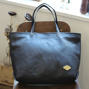 Zip Tote Bag / BLACK