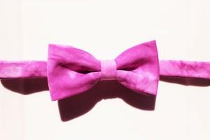 蝶ネクタイ-ムラ染紫