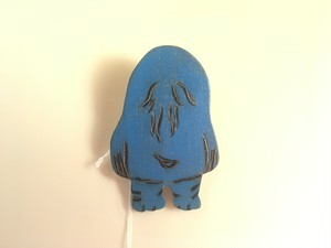【どうかしてるダイン】NU1 ぬっぺほふ木製ブローチ