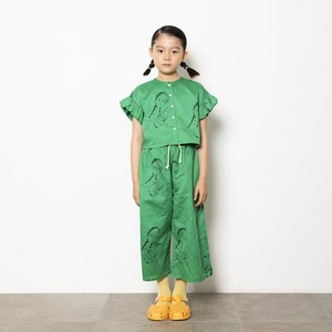 Last one M!folk made  face print blouse (green print) M・Lサイズ F21SS-013 ※メール便1点までOK