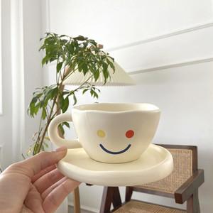 ugly smile tea cup saucer SET / アグリー スマイル ティーカップ ソーサー セット コップ  プレート 韓国 北欧 雑貨