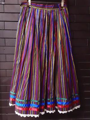 Made in Europe stripe pattern tirolean skirt ヨーロッパ製ストライプ柄チロリアンスカート