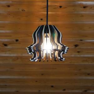 「ねことねこ」木製ペンダントライト 照明 インテリア