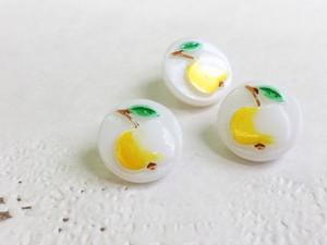 bt-t-07 かわいいリンゴ柄のボタン 黄