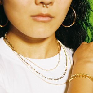 【SET1-7】gold filled chain necklace - 3 pairs