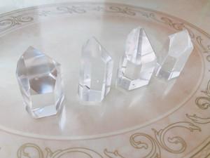 水晶 クォーツ 結界用ポイント水晶 4個セット
