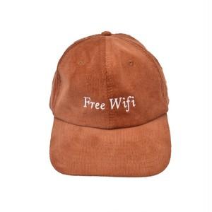FREE WIFI / 6 PANEL CORDUROY CAP -CAMEL-