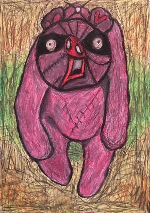 ラーテルさん(あなぐまハチロー)「オーティス・ドリフトウッドの磔熊」