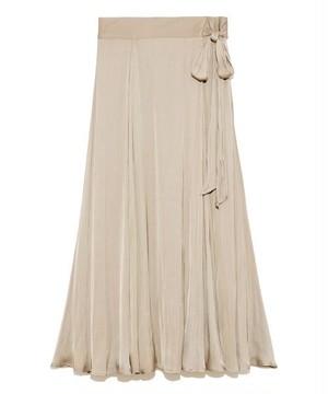 Mila Owen サテンマキシ丈巻きスカート