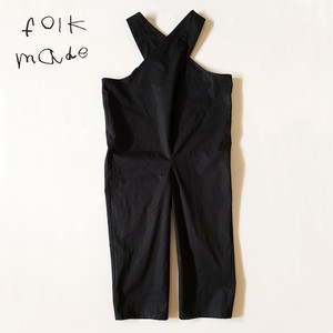 folk made cross overalls (black) F 大人サイズ  F20SS-017