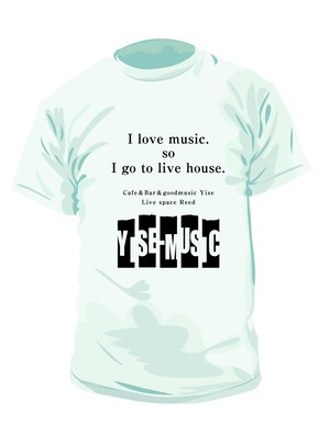 《YISE-MUSIC》Yise ・Reed支援Tシャツ WHITE