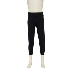 カシミヤ100%八分丈パンツ ブラック メンズニット 柔らかく暖かい