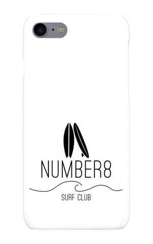 Number8 SURF CLUBサーフボードロゴiPhoneケース for for iPhone8/7