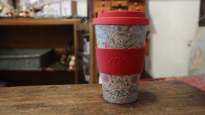 William Morris Ecoffee Cup: CORNCOCKLE 400ml