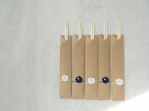 箸袋 ~白梅藍梅~
