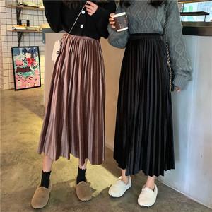 2020AW ベルベットプリーツスカート