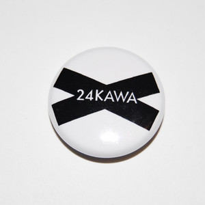 24KAWA Logo White Button Badges