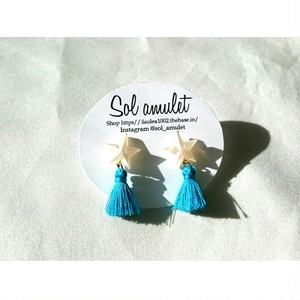 【ピアス】star tassel pierce