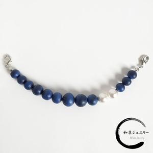 マットな質感の羽織り紐(青)