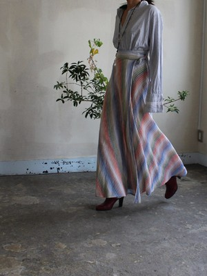 70s cotton wrapped skirt