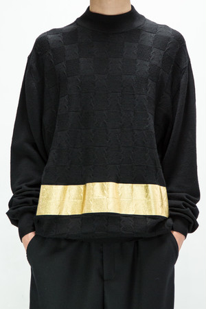 18AW regeneration Gold Line Knit