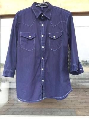 藍染め 本藍染 本藍染シャツ indigo