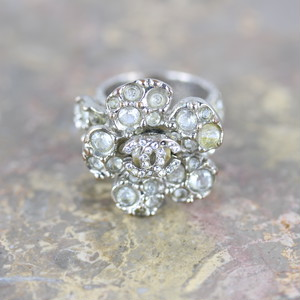 .CHANEL 07V COCO NARC CAMELLIA DESIGN STONE RING MADE IN FRANCE/シャネルココマークカメリアデザインストーンリング 2000000048581