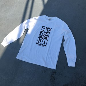 """human relation"" long sleeve tee / white"