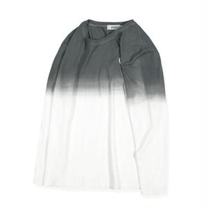 メンズ大きいサイズ長袖シャツ。グラデーションバイカラー