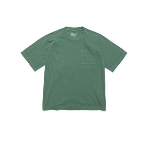 GARMENT DYED HALF SLEEVE BIG T-SHIRT - GREEN